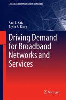 Driving Demand for Broadband Networks and Services için kapak resmi