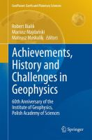 Achievements, History and Challenges in Geophysics 60th Anniversary of the Institute of Geophysics, Polish Academy of Sciences için kapak resmi