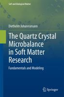 The Quartz Crystal Microbalance in Soft Matter Research Fundamentals and Modeling için kapak resmi