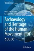 Archaeology and Heritage of the Human Movement into Space için kapak resmi