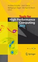Tools for High Performance Computing 2013 Proceedings of the 7th International Workshop on Parallel Tools for High Performance Computing, September 2013, ZIH, Dresden, Germany için kapak resmi
