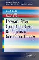 Forward Error Correction Based On Algebraic-Geometric Theory için kapak resmi