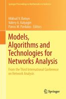 Models, Algorithms and Technologies for Network Analysis From the Third International Conference on Network Analysis için kapak resmi