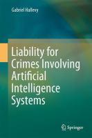 Liability for Crimes Involving Artificial Intelligence Systems için kapak resmi