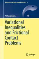 Variational Inequalities and Frictional Contact Problems için kapak resmi