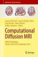 Computational Diffusion MRI MICCAI Workshop, Boston, MA, USA, September 2014 için kapak resmi