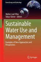 Sustainable Water Use and Management Examples of New Approaches and Perspectives için kapak resmi