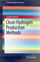 Clean Hydrogen Production Methods için kapak resmi