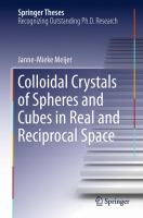 Colloidal Crystals of Spheres and Cubes in Real and Reciprocal Space için kapak resmi
