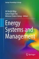 Energy Systems and Management için kapak resmi
