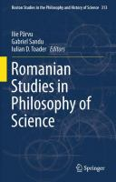Romanian Studies in Philosophy of Science için kapak resmi