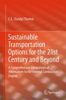 Sustainable Transportation Options for the 21st Century and Beyond A Comprehensive Comparison of Alternatives to the Internal Combustion Engine için kapak resmi