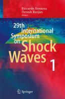29th International Symposium on Shock Waves 1 Volume 1 için kapak resmi