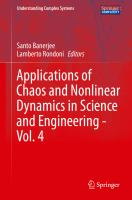 Applications of Chaos and Nonlinear Dynamics in Science and Engineering - Vol. 4 için kapak resmi