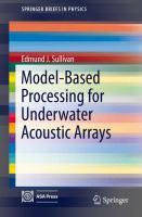 Model-Based Processing for Underwater Acoustic Arrays için kapak resmi