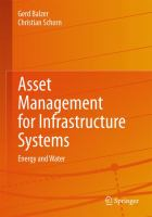 Asset Management for Infrastructure Systems Energy and Water için kapak resmi