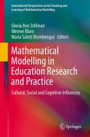 Mathematical Modelling in Education Research and Practice Cultural, Social and Cognitive Influences için kapak resmi