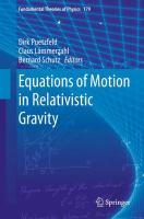 Equations of Motion in Relativistic Gravity için kapak resmi