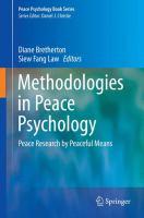 Methodologies in Peace Psychology Peace Research by Peaceful Means için kapak resmi