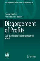 Disgorgement of Profits Gain-Based Remedies throughout the World için kapak resmi