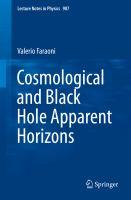 Cosmological and Black Hole Apparent Horizons için kapak resmi
