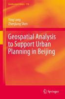 Geospatial Analysis to Support Urban Planning in Beijing için kapak resmi