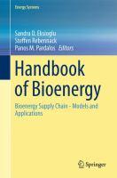 Handbook of Bioenergy Bioenergy Supply Chain - Models and Applications için kapak resmi