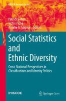 Social Statistics and Ethnic Diversity Cross-National Perspectives in Classifications and Identity Politics için kapak resmi