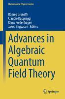 Advances in Algebraic Quantum Field Theory için kapak resmi