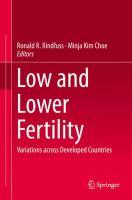 Low and Lower Fertility Variations across Developed Countries için kapak resmi