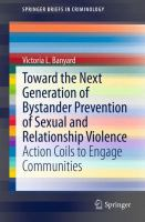Toward the Next Generation of Bystander Prevention of Sexual and Relationship Violence Action Coils to Engage Communities için kapak resmi