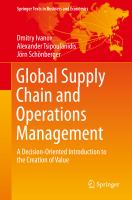 Global Supply Chain and Operations Management A Decision-Oriented Introduction to the Creation of Value için kapak resmi
