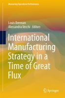 International Manufacturing Strategy in a Time of Great Flux için kapak resmi