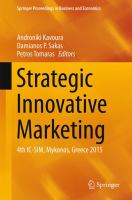 Strategic Innovative Marketing 4th IC-SIM, Mykonos, Greece 2015 için kapak resmi