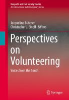 Perspectives on Volunteering Voices from the South için kapak resmi