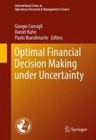 Optimal Financial Decision Making under Uncertainty için kapak resmi