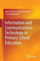 Information and Communications Technology in Primary School Education için kapak resmi