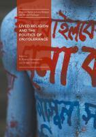 Lived Religion and the Politics of (In)Tolerance için kapak resmi