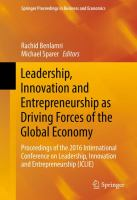Leadership, Innovation and Entrepreneurship as Driving Forces of the Global Economy Proceedings of the 2016 International Conference on Leadership, Innovation and Entrepreneurship (ICLIE) için kapak resmi