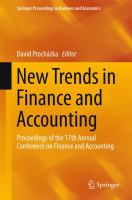 New Trends in Finance and Accounting  Proceedings of the 17th Annual Conference on Finance and Accounting için kapak resmi
