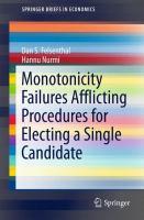 Monotonicity Failures Afflicting Procedures for Electing a Single Candidate için kapak resmi