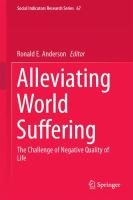 Alleviating World Suffering The Challenge of Negative Quality of Life için kapak resmi