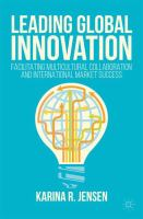 Leading Global Innovation Facilitating Multicultural Collaboration and International Market Success için kapak resmi