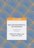 Neo-Environmental Determinism Geographical Critiques için kapak resmi