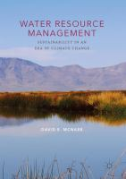 Water Resource Management Sustainability in an Era of Climate Change için kapak resmi