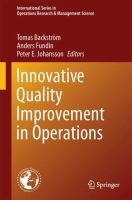Innovative Quality Improvements in Operations Introducing Emergent Quality Management için kapak resmi