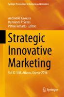 Strategic Innovative Marketing 5th IC-SIM, Athens, Greece 2016 için kapak resmi