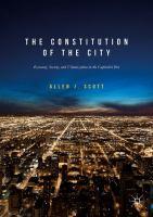 The Constitution of the City Economy, Society, and Urbanization in the Capitalist Era için kapak resmi