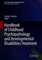 Handbook of Childhood Psychopathology and Developmental Disabilities Treatment için kapak resmi