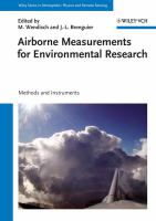Airborne measurements for environmental research : methods and instruments için kapak resmi